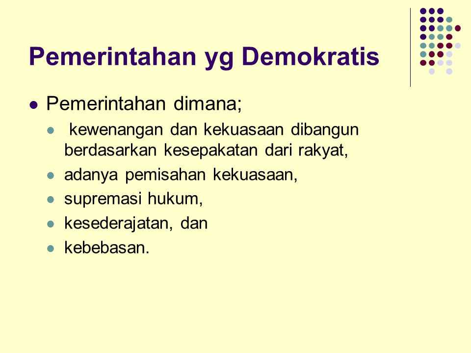 Pemerintahan yg Demokratis