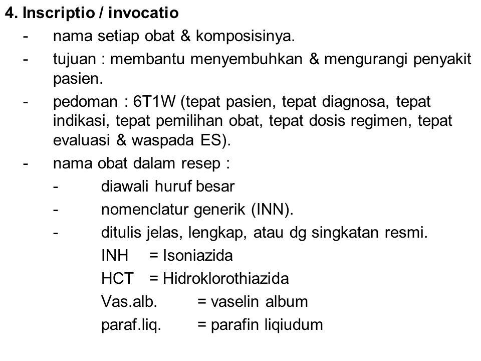 4. Inscriptio / invocatio