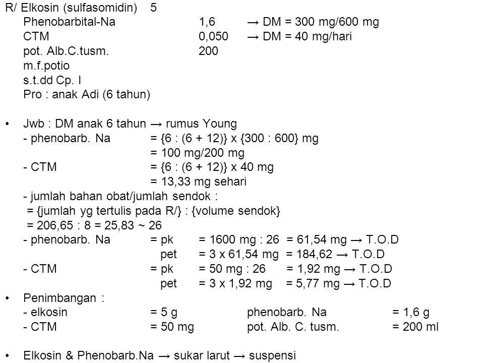 R/ Elkosin (sulfasomidin) 5