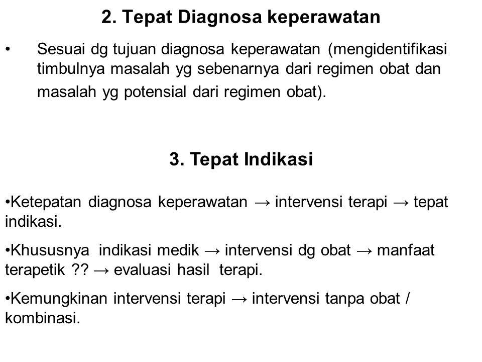 2. Tepat Diagnosa keperawatan