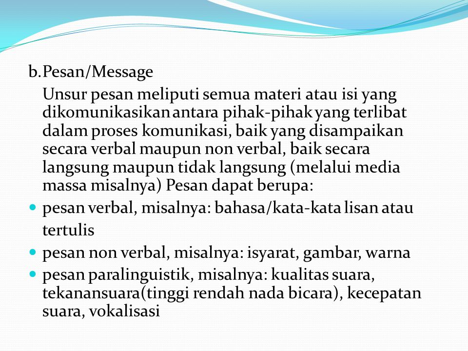 b. Pesan/Message