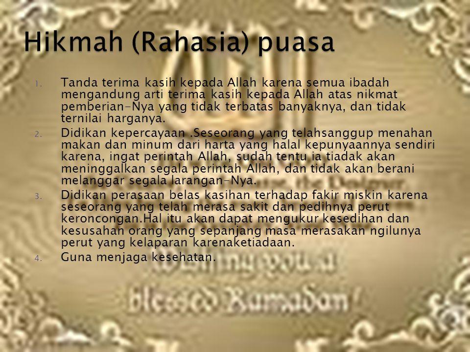 Hikmah (Rahasia) puasa