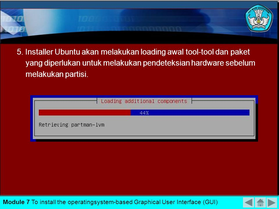 5. Installer Ubuntu akan melakukan loading awal tool-tool dan paket