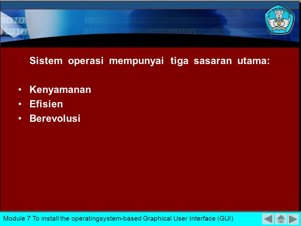 Sistem operasi mempunyai tiga sasaran utama: Kenyamanan Efisien