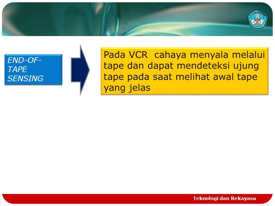 Pada VCR cahaya menyala melalui tape dan dapat mendeteksi ujung tape pada saat melihat awal tape yang jelas