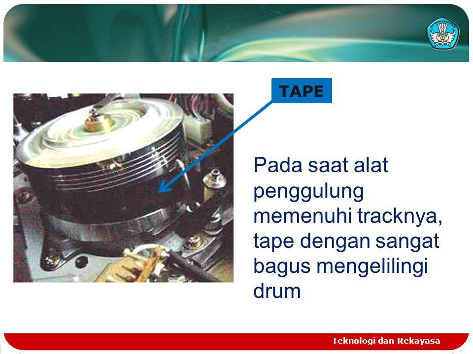 TAPE Pada saat alat penggulung memenuhi tracknya, tape dengan sangat bagus mengelilingi drum.