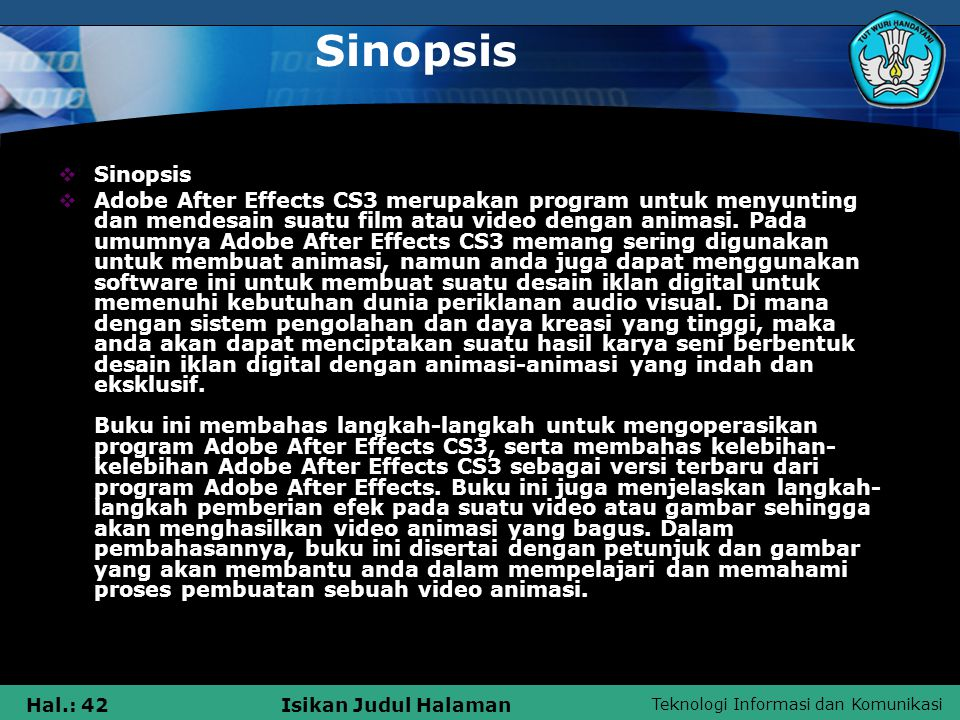 Sinopsis Sinopsis.