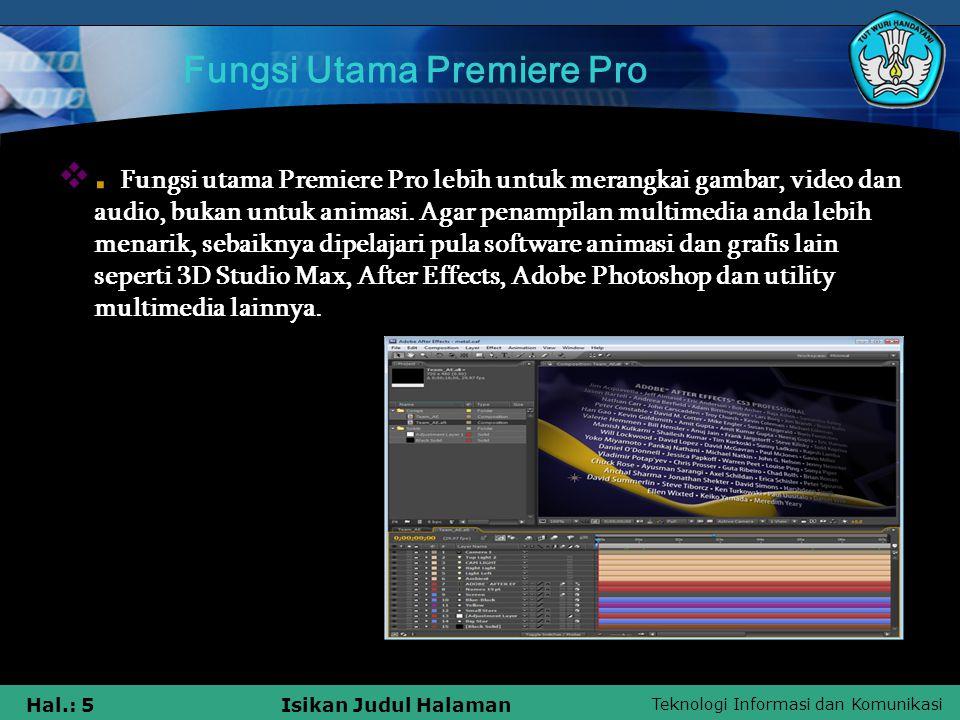 Fungsi Utama Premiere Pro