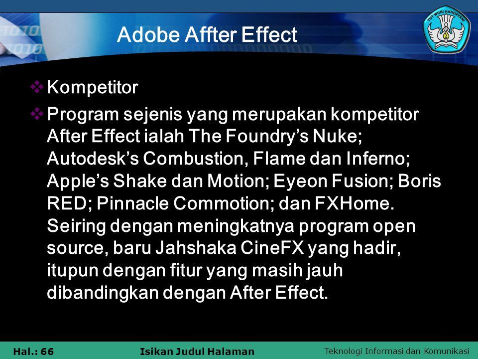 Adobe Affter Effect Kompetitor