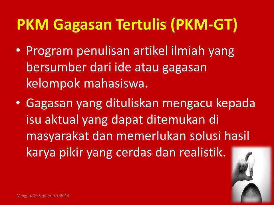 PKM Gagasan Tertulis (PKM-GT)
