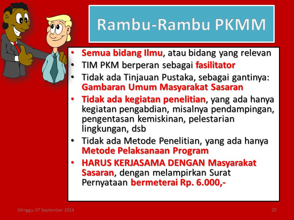Rambu-Rambu PKMM Semua bidang Ilmu, atau bidang yang relevan