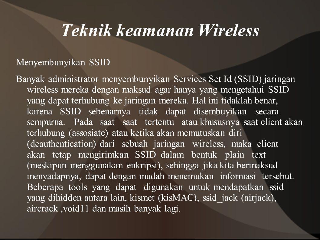 Teknik keamanan Wireless
