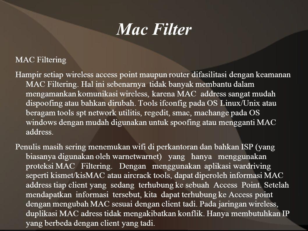 Mac Filter MAC Filtering