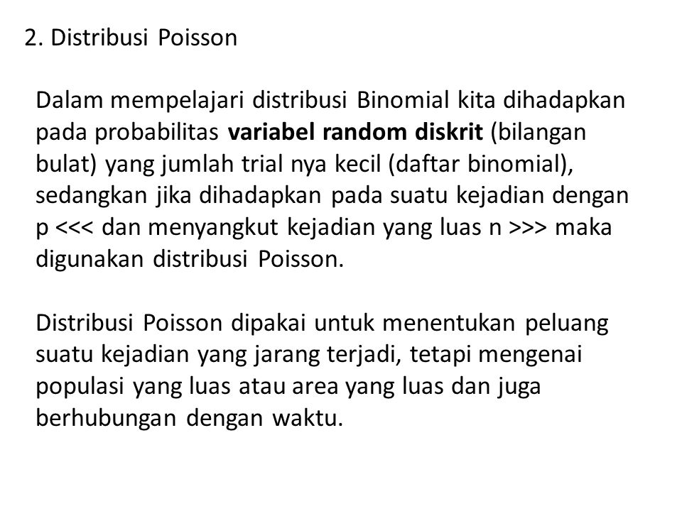 2. Distribusi Poisson