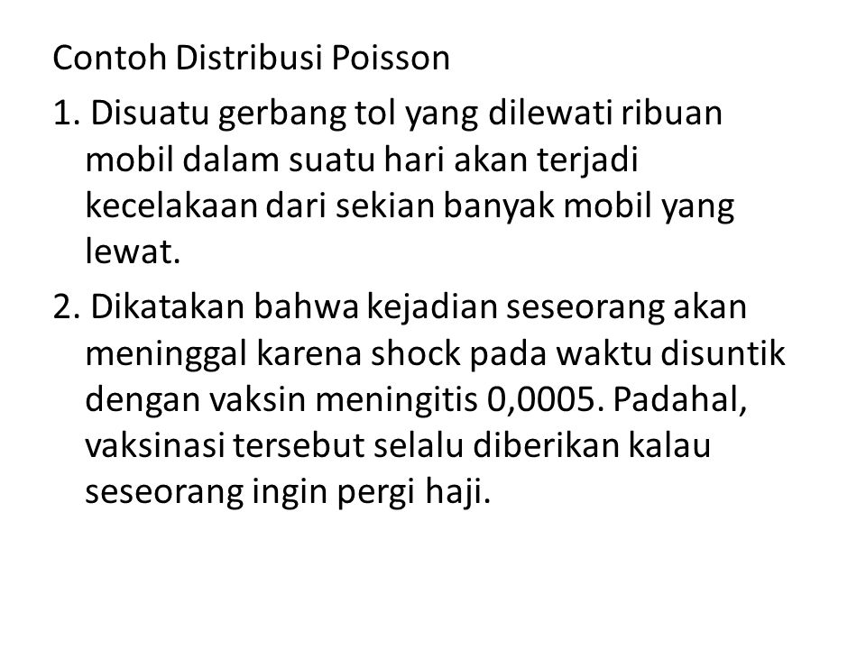 Contoh Distribusi Poisson 1