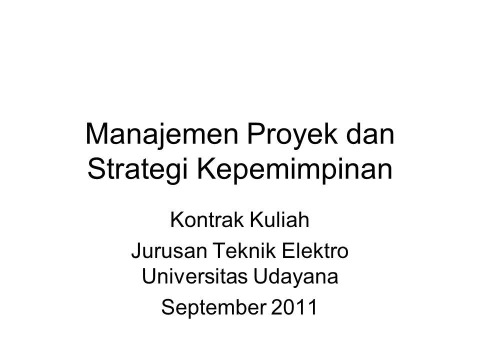 Manajemen Proyek dan Strategi Kepemimpinan