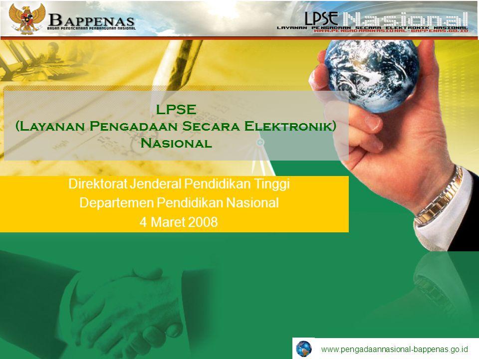 LPSE (Layanan Pengadaan Secara Elektronik) Nasional