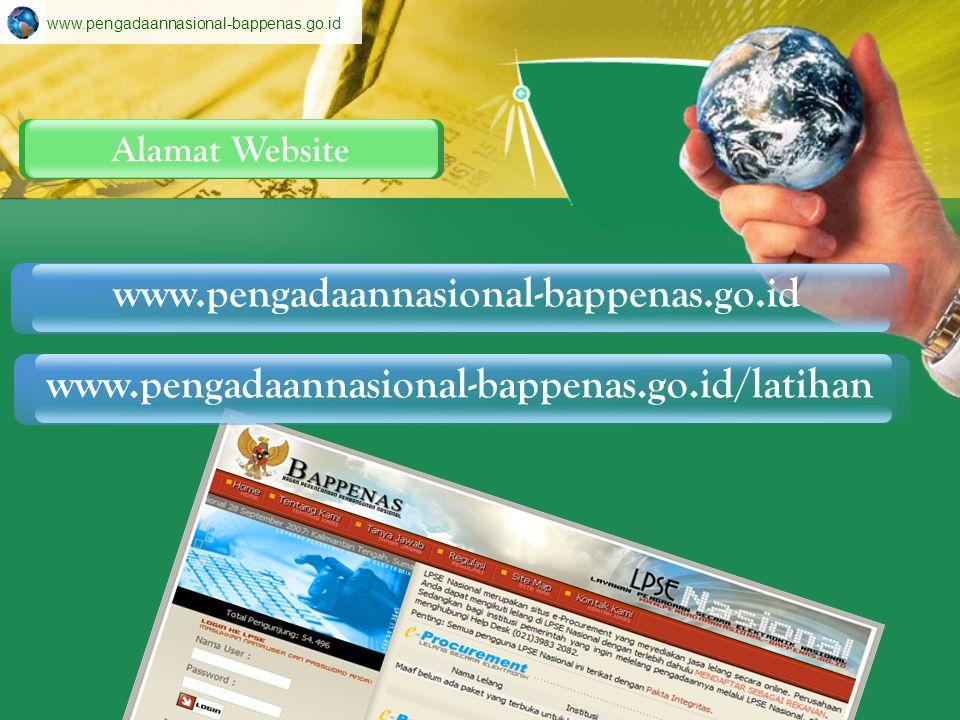 www.pengadaannasional-bappenas.go.id Alamat Website.