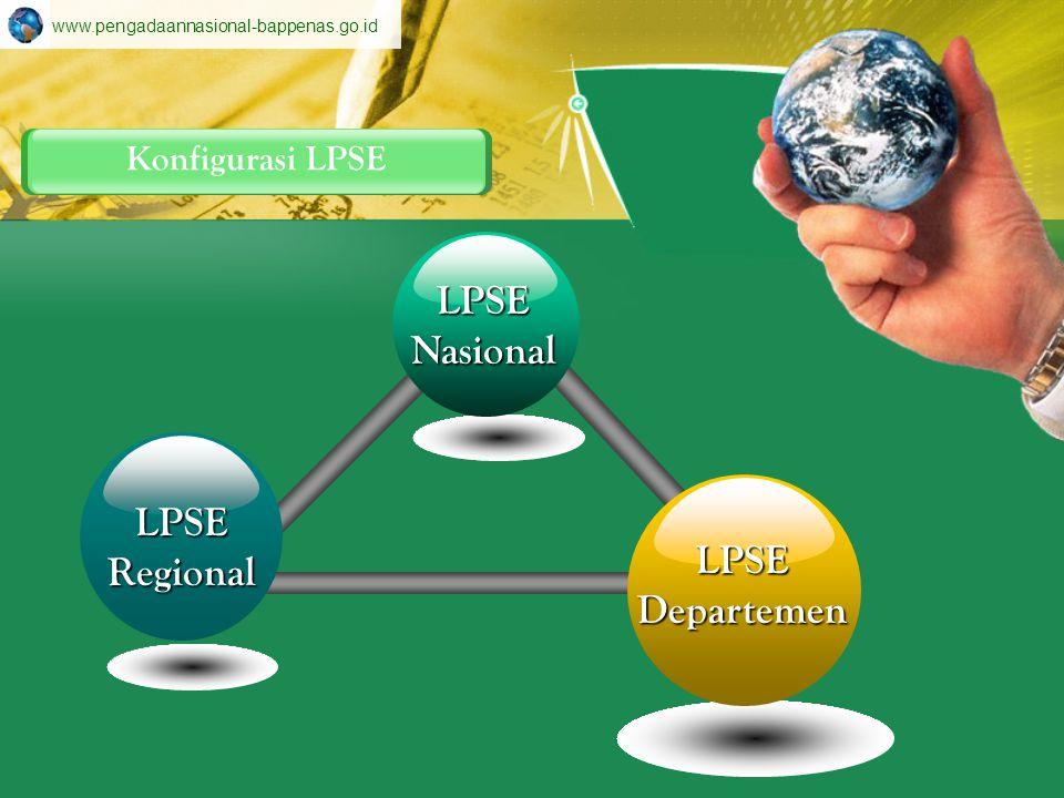 LPSE Nasional LPSE Regional LPSE Departemen