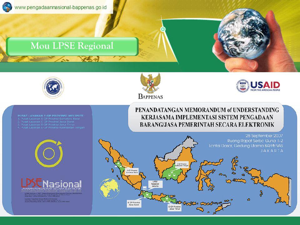 www.pengadaannasional-bappenas.go.id Mou LPSE Regional