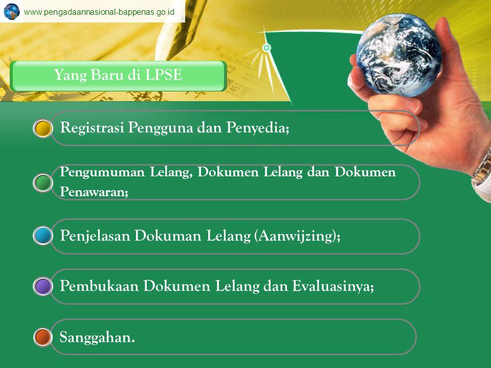 Registrasi Pengguna dan Penyedia;