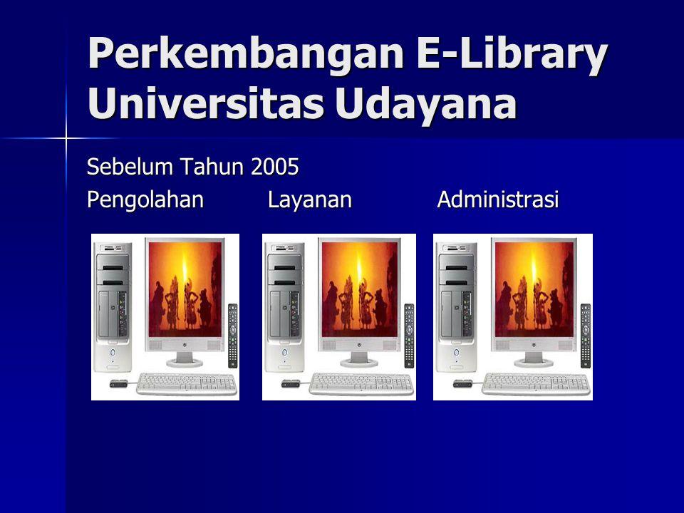 Perkembangan E-Library Universitas Udayana