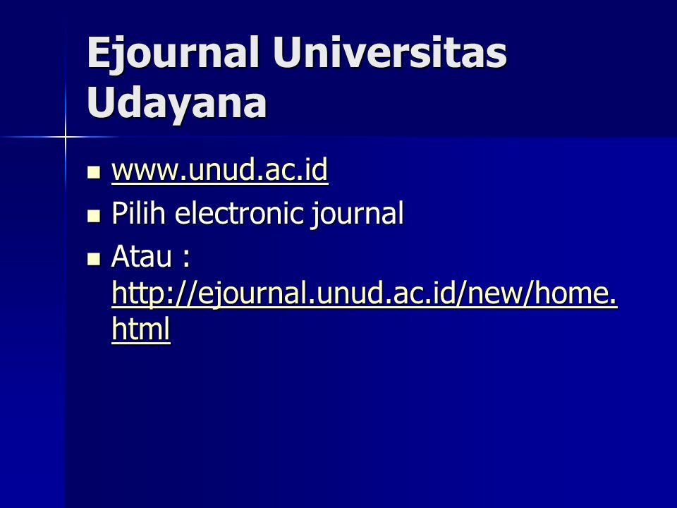 Ejournal Universitas Udayana