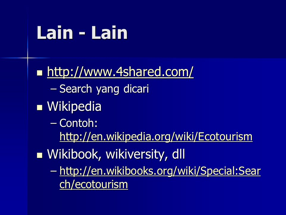 Lain - Lain http://www.4shared.com/ Wikipedia