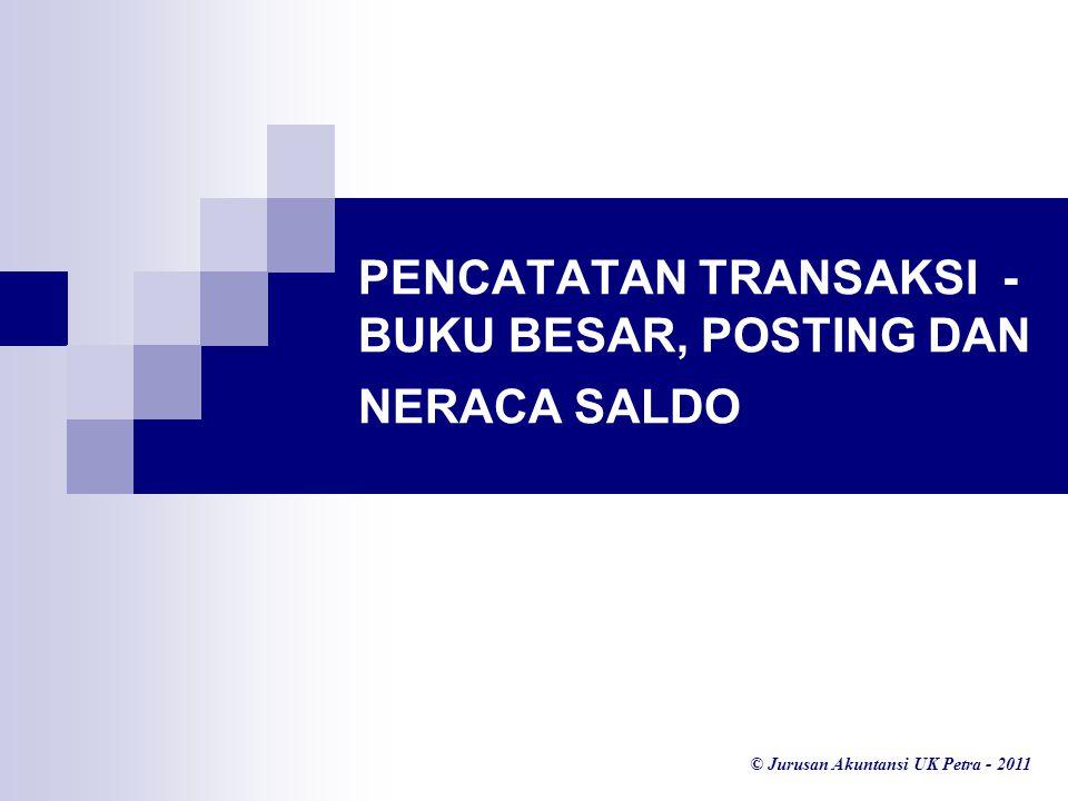 PENCATATAN TRANSAKSI - BUKU BESAR, POSTING DAN NERACA SALDO