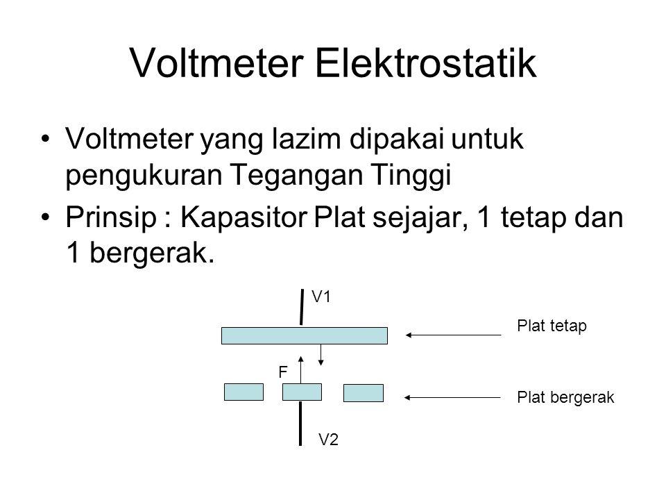 Voltmeter Elektrostatik