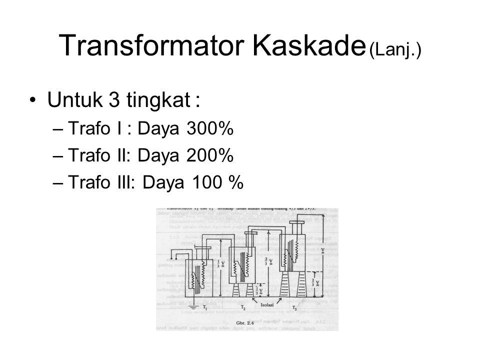 Transformator Kaskade (Lanj.)