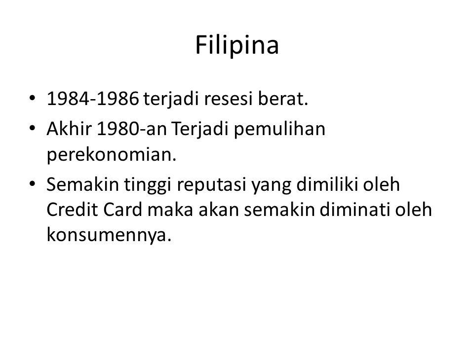 Filipina 1984-1986 terjadi resesi berat.