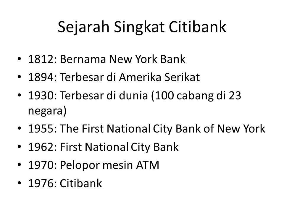 Sejarah Singkat Citibank