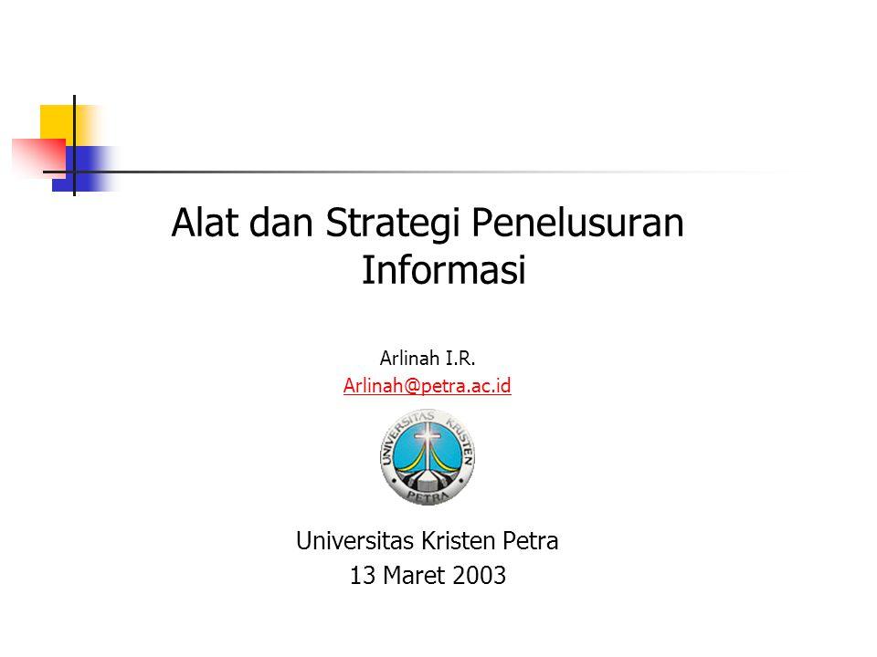 Alat dan Strategi Penelusuran Informasi