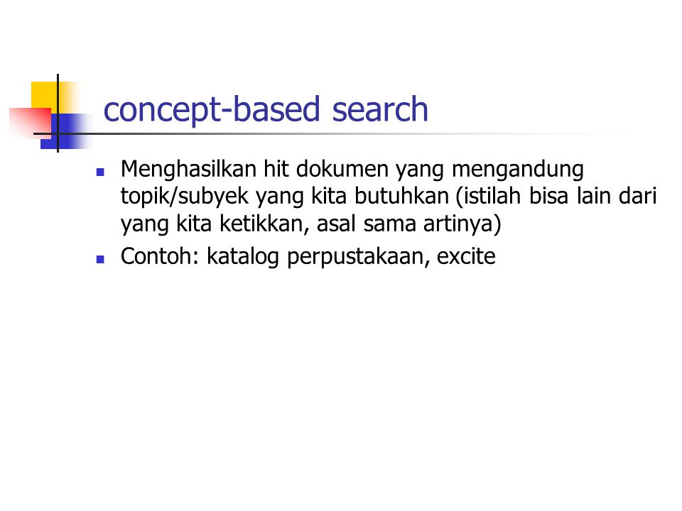 concept-based search