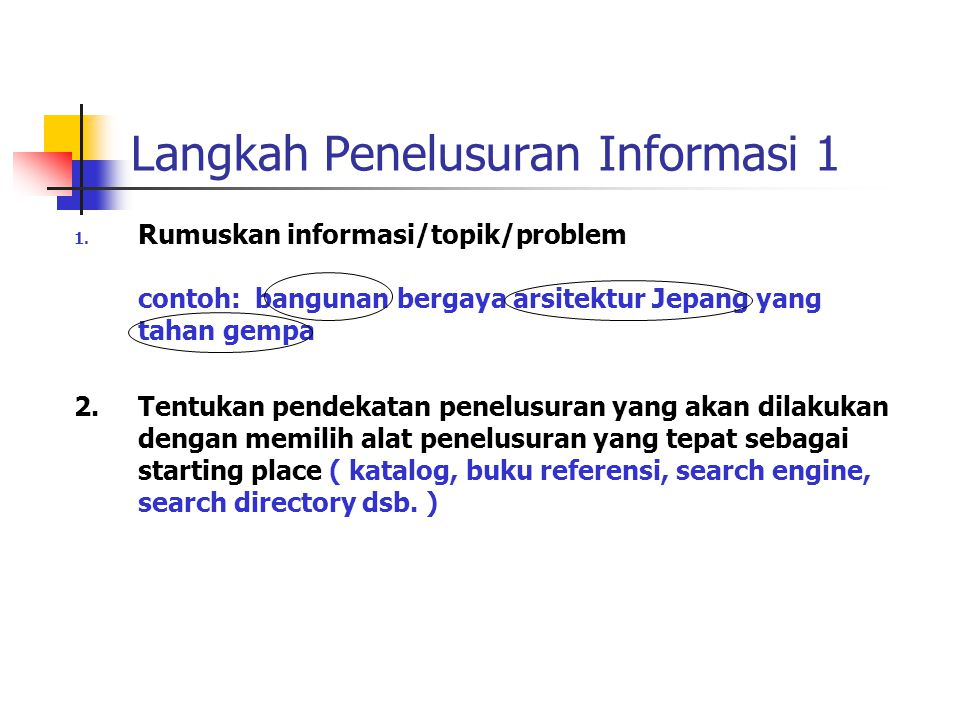 Langkah Penelusuran Informasi 1