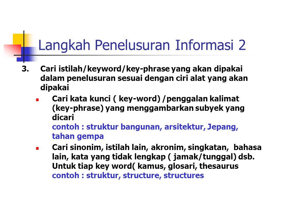 Langkah Penelusuran Informasi 2