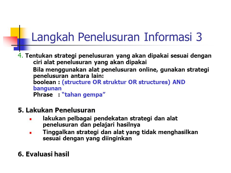 Langkah Penelusuran Informasi 3