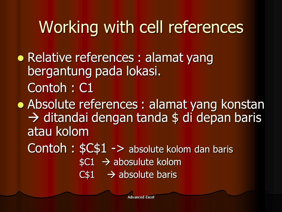 Working with cell references