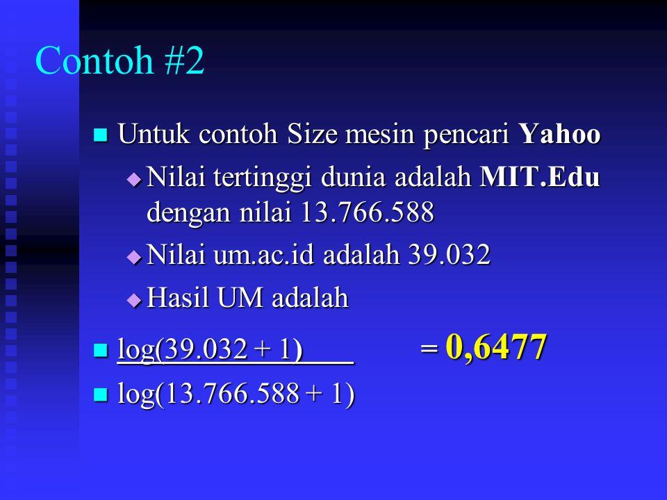 Contoh #2 Untuk contoh Size mesin pencari Yahoo