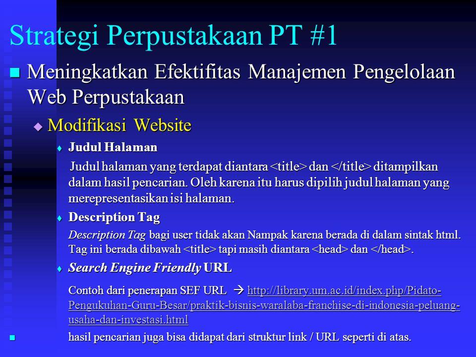 Strategi Perpustakaan PT #1