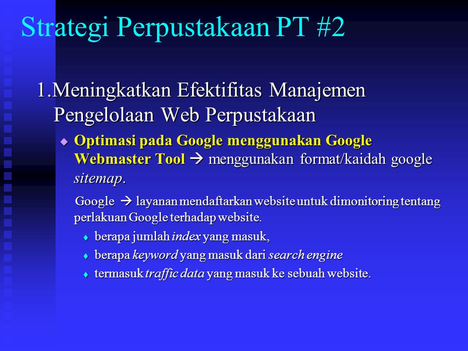 Strategi Perpustakaan PT #2