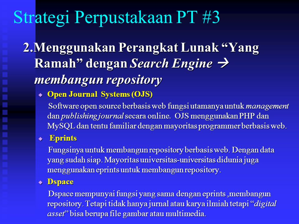 Strategi Perpustakaan PT #3