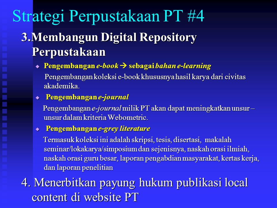 Strategi Perpustakaan PT #4