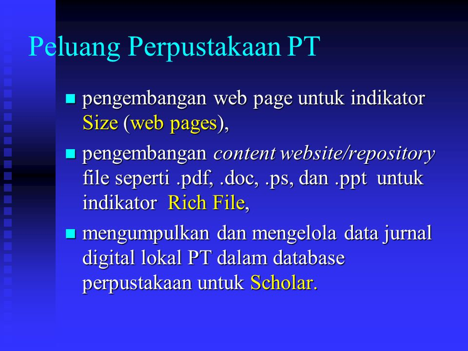 Peluang Perpustakaan PT