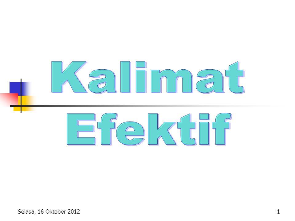 Kalimat Efektif Selasa, 16 Oktober 2012