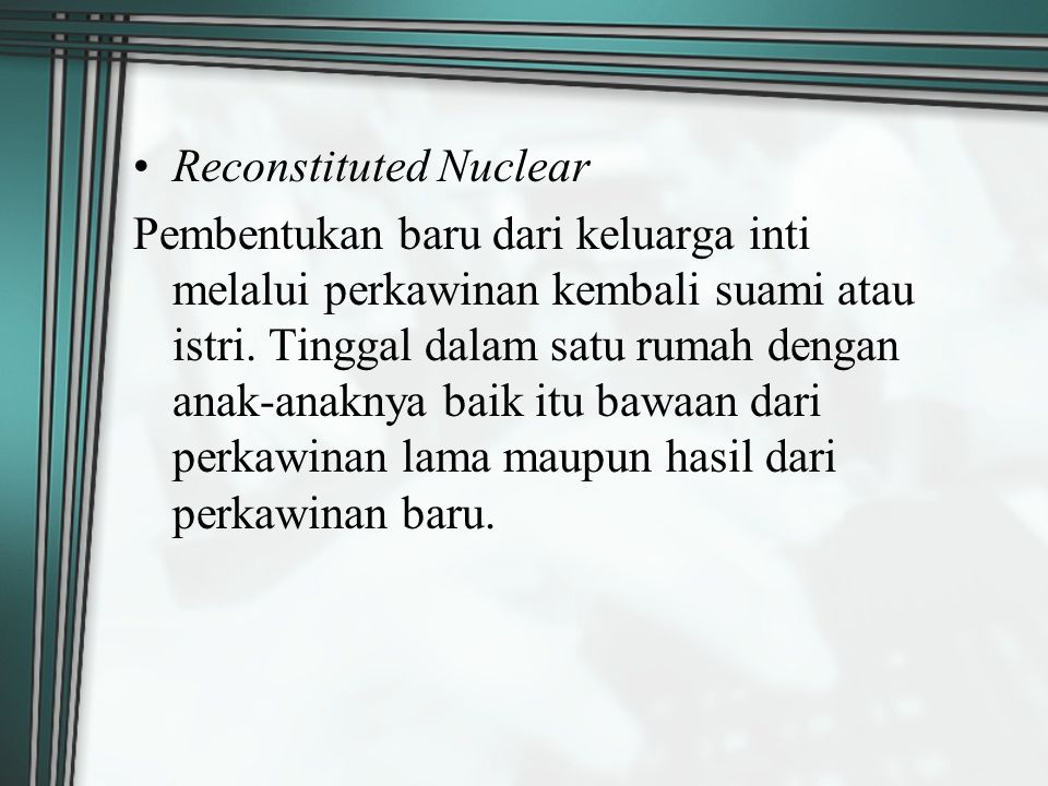 Reconstituted Nuclear