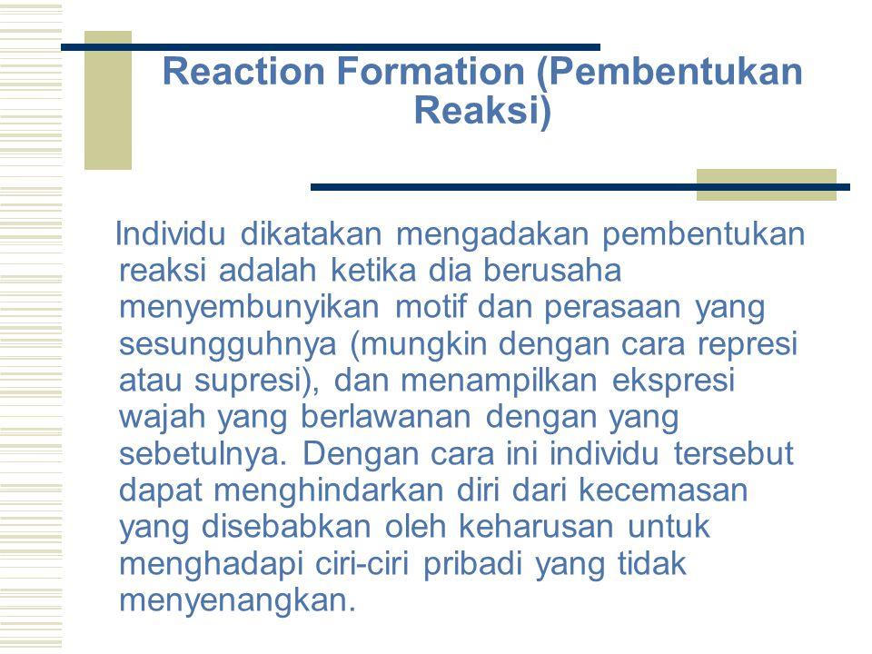 Reaction Formation (Pembentukan Reaksi)
