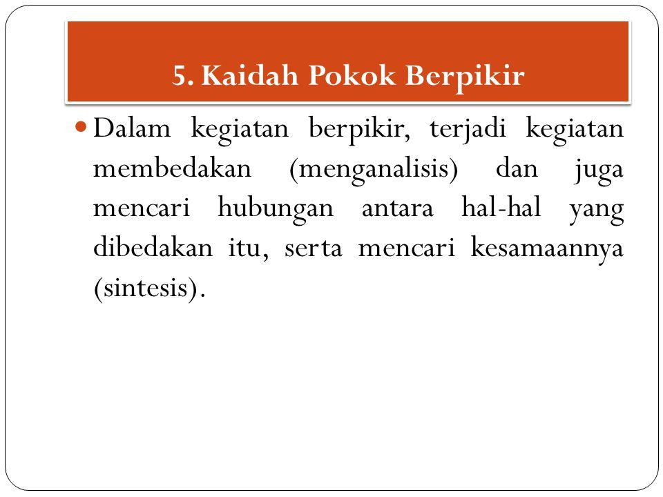 5. Kaidah Pokok Berpikir