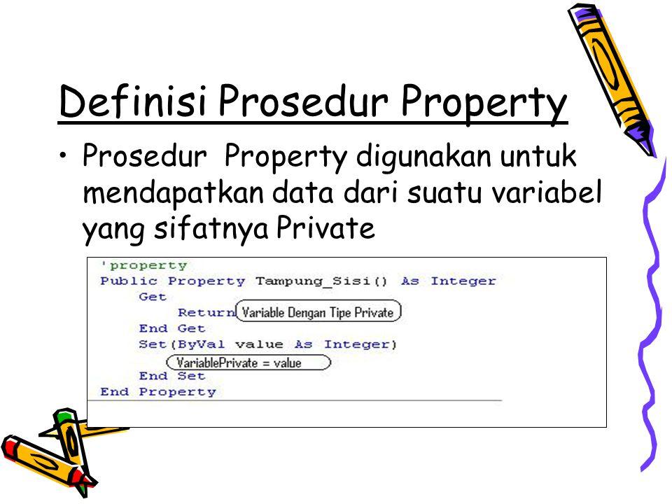 Definisi Prosedur Property